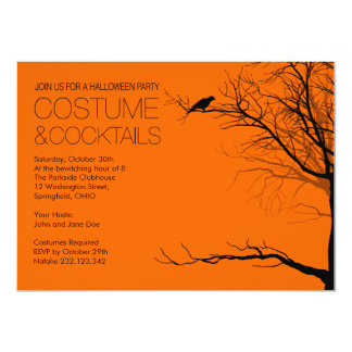 Costume and Cocktails Halloween Card