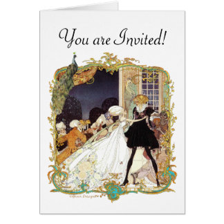 Costume Ball Vintage Style Art Design Card