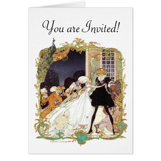 Costume Ball Vintage Style Art Design Greeting Card