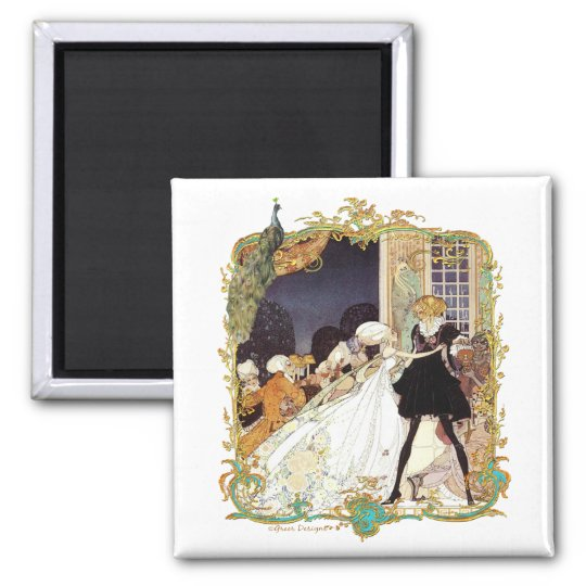 Costume Ball Vintage Style Art Design Magnet