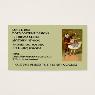 COSTUME BOUTIQUE ~ COSTUME DESIGNER ~BUSINESS CARD