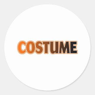 COSTUME CLASSIC ROUND STICKER