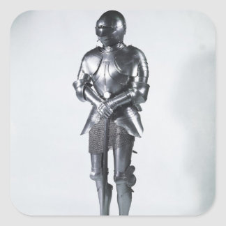 Costume d'armure avec les poulaines, c.1480 sticker carré