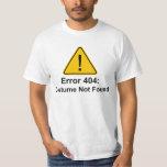 Costume des erreurs 404 Halloween non trouvé Tee Shirt