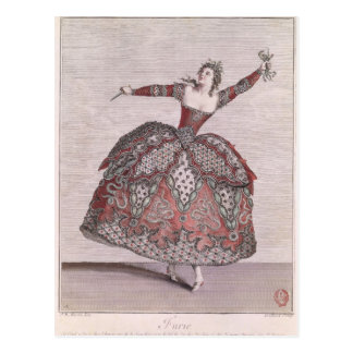 Costume design a Fury in 'Hippolyte et Aricie' Postcard