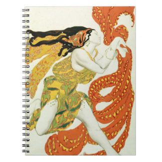 Costume design for a bacchante in 'Narcisse' Notebook