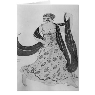 Costume design for 'Cleopatra', 1910 Card