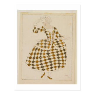 Costume design for Columbine, from Sleeping Beauty Postcard