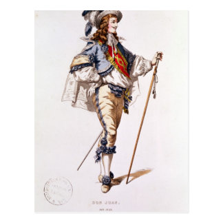 Costume design for 'Don Juan' by Moliere Postcard