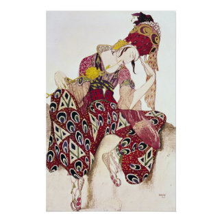 Costume design for Nijinsky at ballet 'La Poster