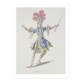 Costume design for the Magician, in Dardanus, a li Postcard