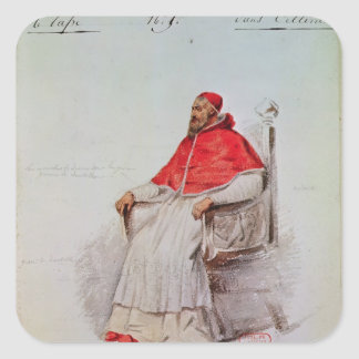 Costume design for the Pope Clement VII Square Sticker