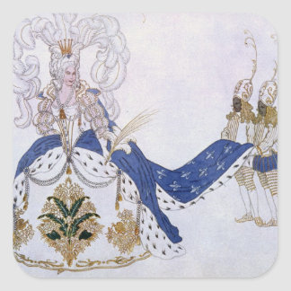 Costume design for The Queen and Her Pages, from S Sticker