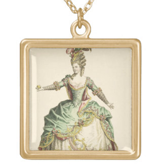 Costume for Venus in several operas, engraved by t Gold Plated Necklace
