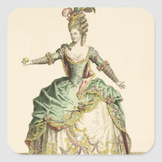 Costume for Venus in several operas, engraved by t Square Stickers
