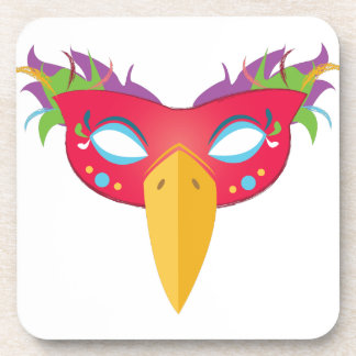 Costume Mask Beverage Coaster
