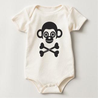 Costume non fini de bébé de singes barboteuse