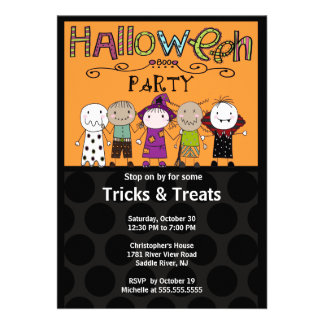 Costume Party Halloween Party Invitation Cute