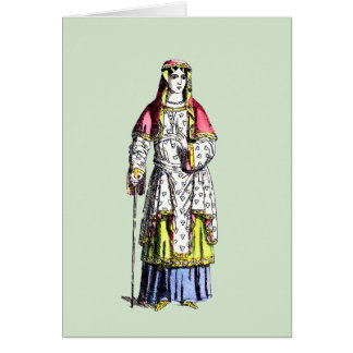 ~ COSTUMES ~ 950 AD ~ Personalised for AUDREY ~ Card