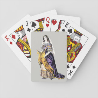 ~ COSTUMES ~ A Lady of Means ~ 1660 ~ Playing Cards