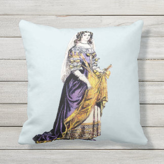 ~ COSTUMES ~ A Lady of Means ~ 1660 ~ Throw Pillow