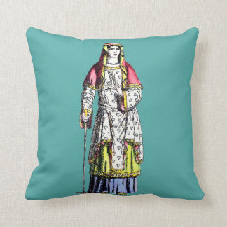 ~ COSTUMES ~ A Lady of Rank ~ 950 AD ~ Throw Pillow