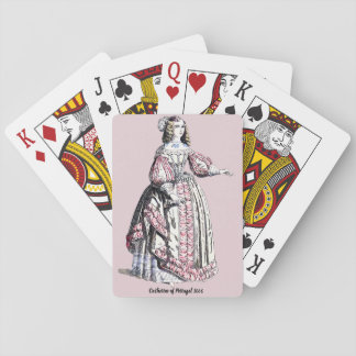 ~ COSTUMES ~ Catherine of Portugal ~ 1666 ~ Playing Cards