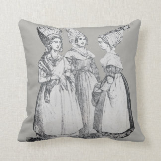 ~ COSTUMES ~ French Peasants ~ Marseilles ~ 1850s Throw Pillow