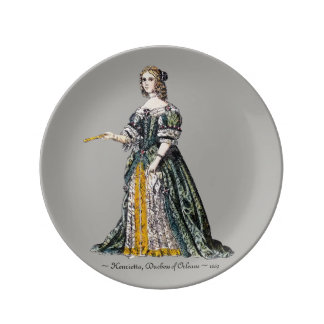 ~ COSTUMES ~ Henrietta, Duchess of Orleans ~ 1669 Plate