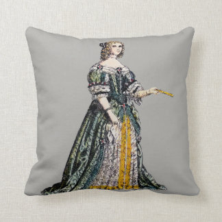 ~ COSTUMES ~ Henrietta, Duchess of Orleans ~ 1669 Throw Pillow