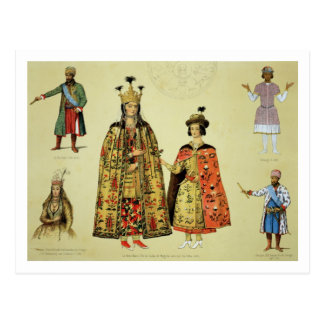 Costumes of the 17th and 18th centuries, plate 56 postcard