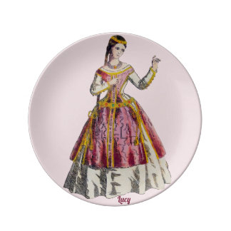 ~COSTUMES ~Spanish Lady of Rank~Personalised LUCY~ Plate