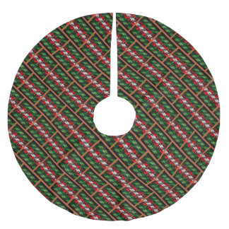 Cosy Christmas Ugly Sweater Brick Tree Skirt