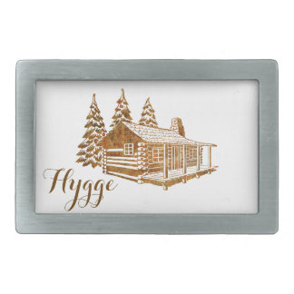 Cosy Log Cabin - Hygge or your own text Belt Buckle