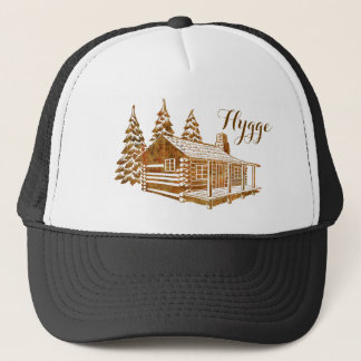 Cosy Log Cabin - Hygge or your own text Trucker Hat