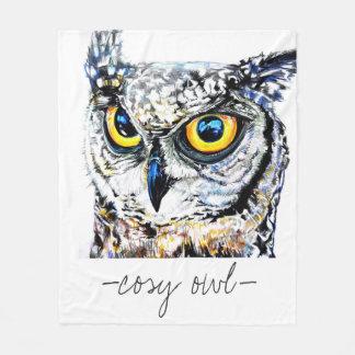 Cosy Owl Fleece Blanket