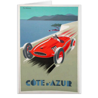 cote azur  red race car card