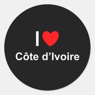 Côte d'Ivoire Classic Round Sticker