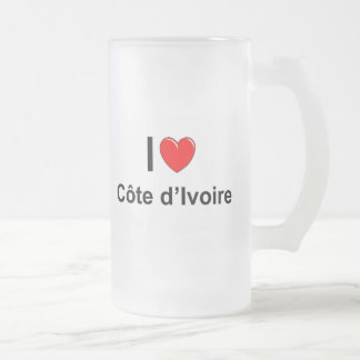 Côte d'Ivoire Frosted Glass Beer Mug