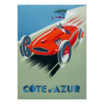 Cote d'Azur Art Deco poster print