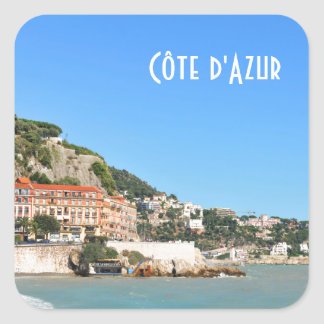 Côte d'Azur in Nice, France Square Sticker