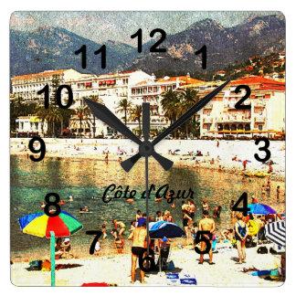 Côte d'Azur retro style clock
