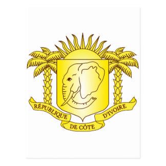 Cote d'Ivoire Coat of arms CI Postcard