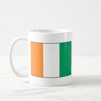 Cote d'Ivoire Flag ~ Map Mug