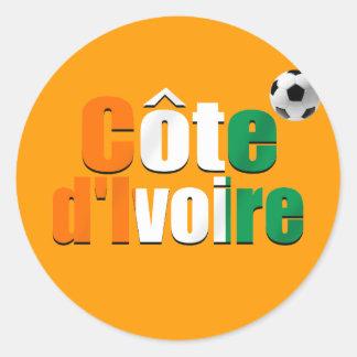 Côte d'Ivoire logo football fans soccer ball gifts Classic Round Sticker