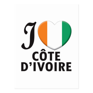 Cote d'Ivoire Love Postcard