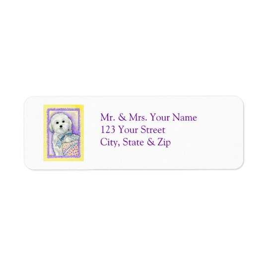 Coton de Tulear Address Label