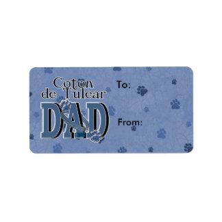 Coton de Tulear DAD Étiquette D'adresse