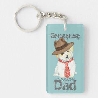 Coton de Tulear Dad Keychain