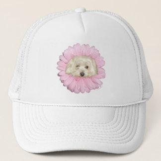 Coton de Tulear Springtime Flower Trucker Hat